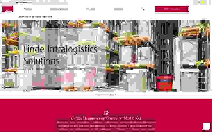 Linde Web Intralogistics Solutions