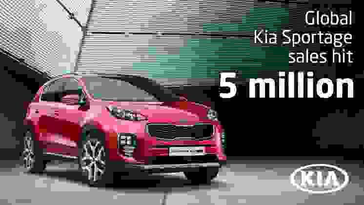 Vendas mundiais do Kia Sportage atingem cinco milhões de unidades