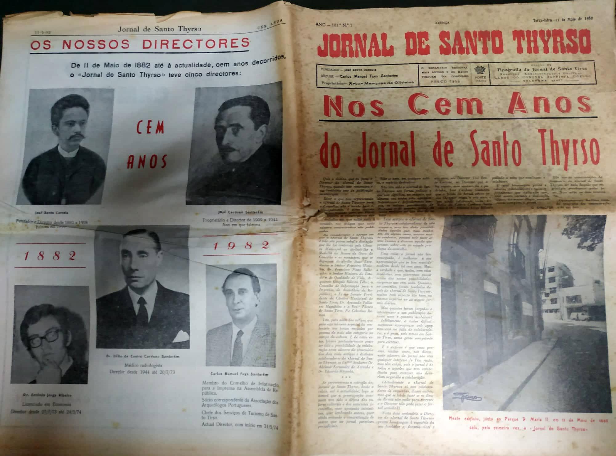 comemoração dos 100 anos jornal de Santo Thyrso