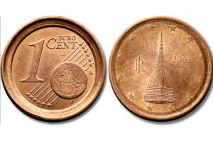 1 centimo moeda