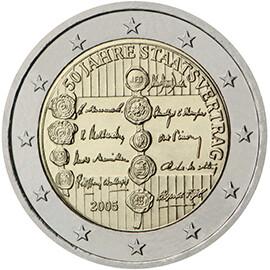 Moeda comemorativa da moeda única Emitida em 2005 na Áustria, está avaliada em 11,82 euros. Existem 6,8 milhões de exemplares.