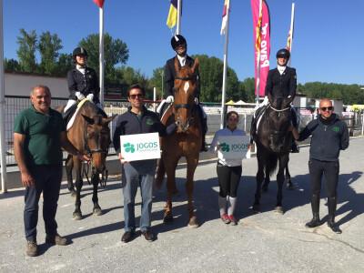 Cavaleiros da Cardiga Paradressage Team subiram ao pódio em Espanha