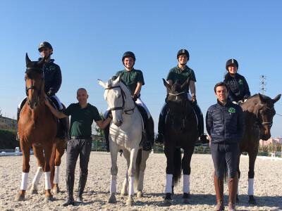 Cardiga Paradressage Team a caminho de Itália