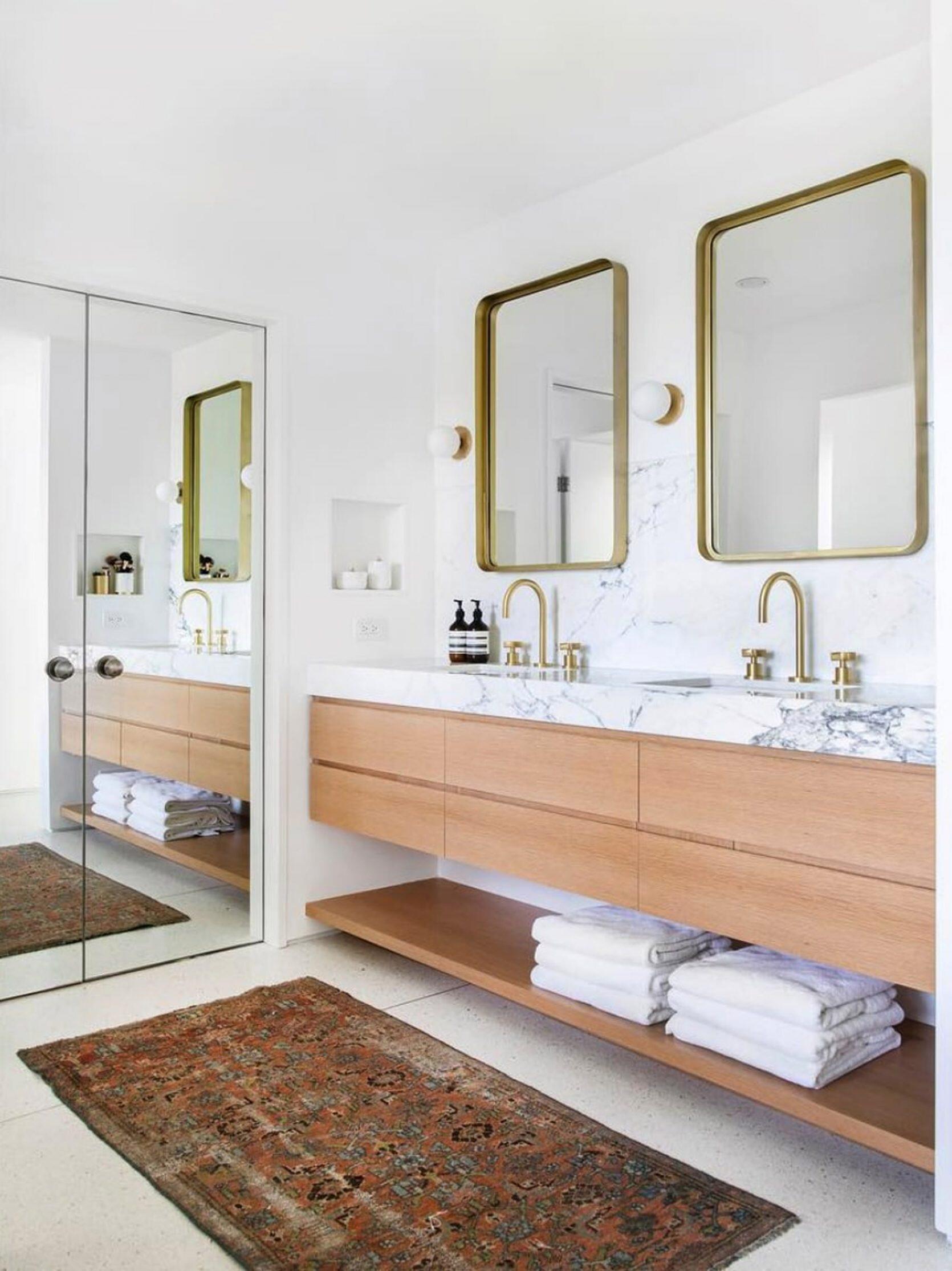espelhos-retângulos-arredondados-design-de-interiores-para-as-casa-de-banho-em-2019