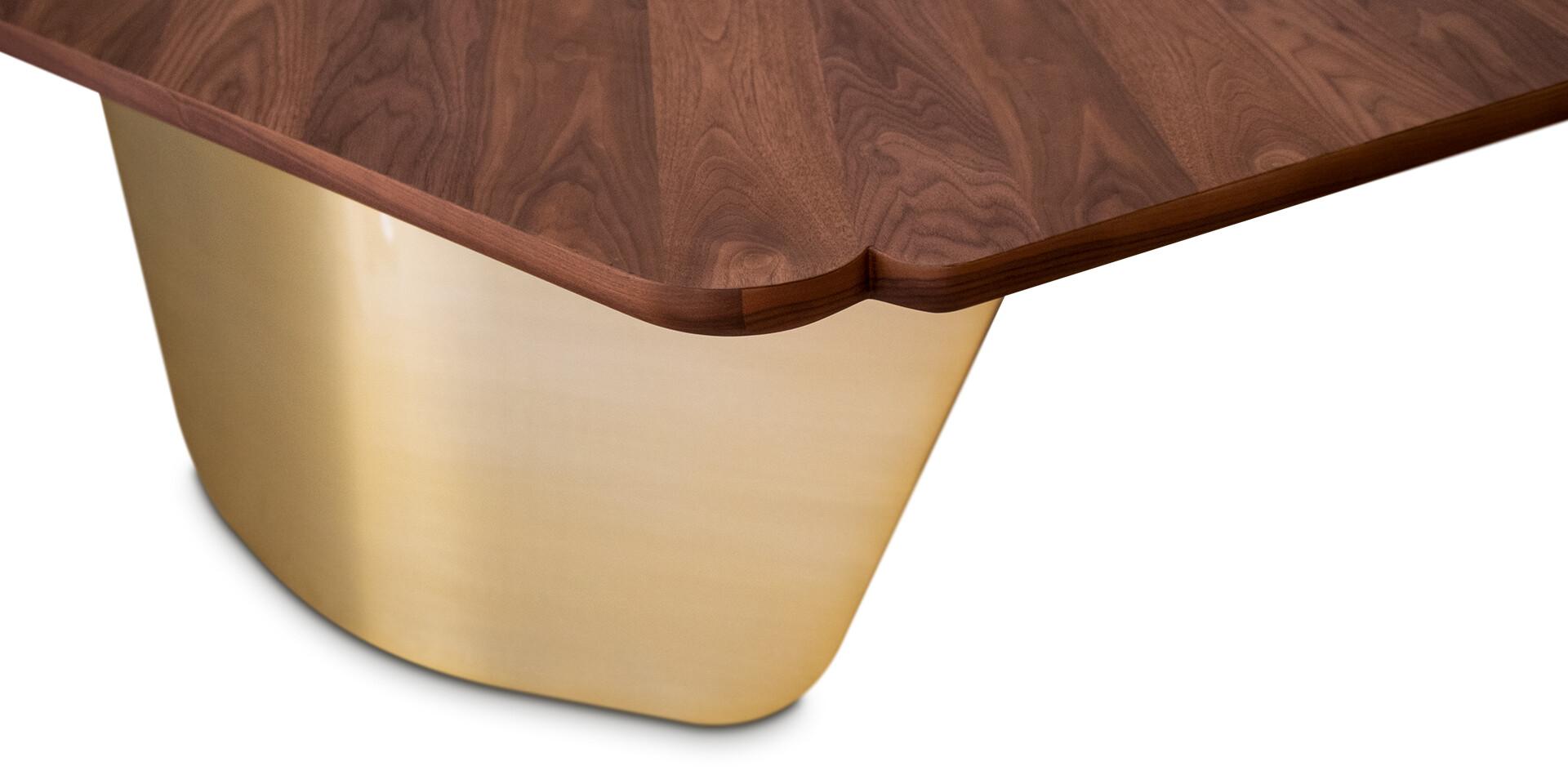 RUSAK DINING TABLE - Side Detail View - ALMA de LUCE