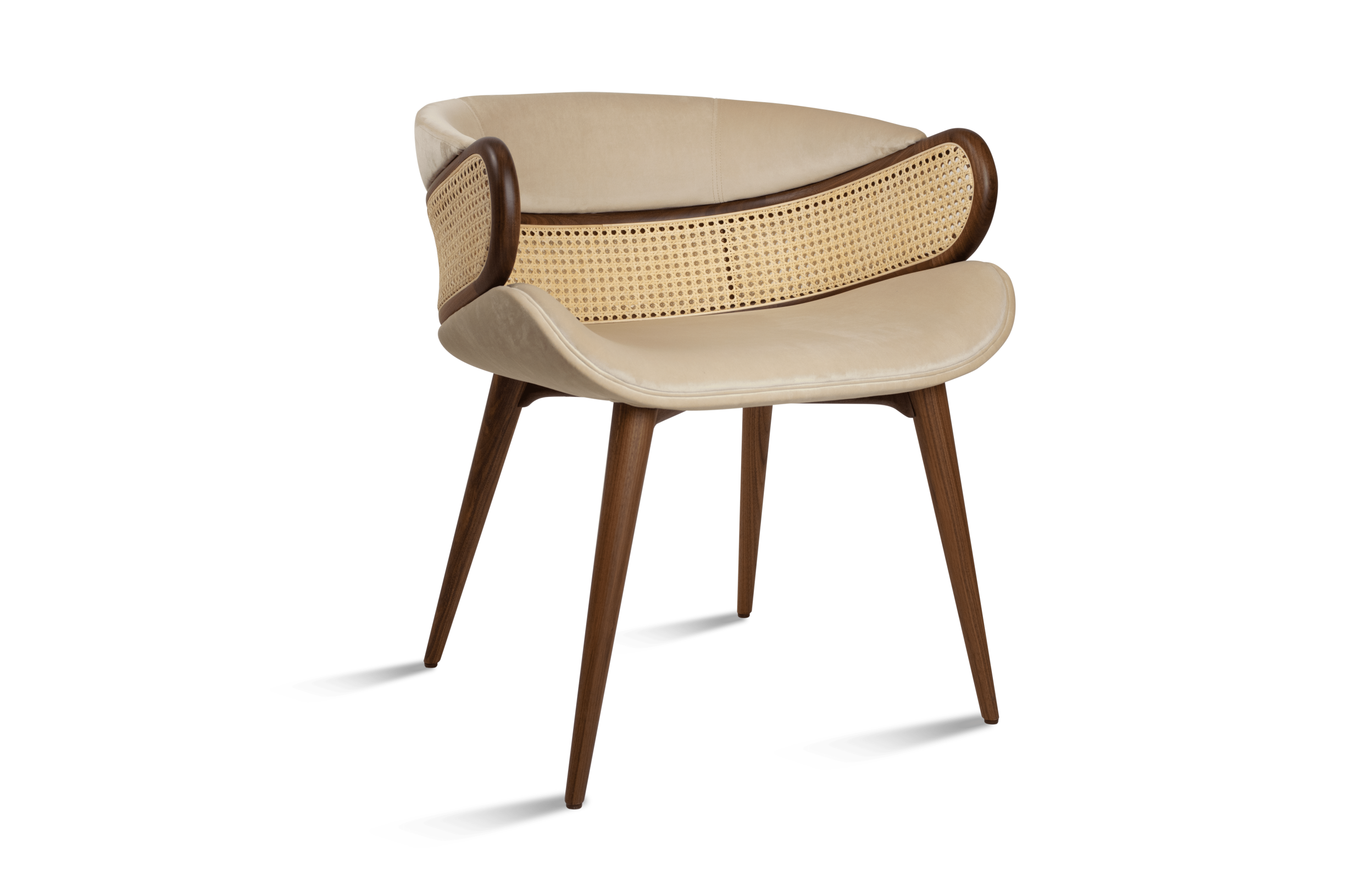 MUDHIF Dining Armchair - Front Side View_ALMA de LUCE-min