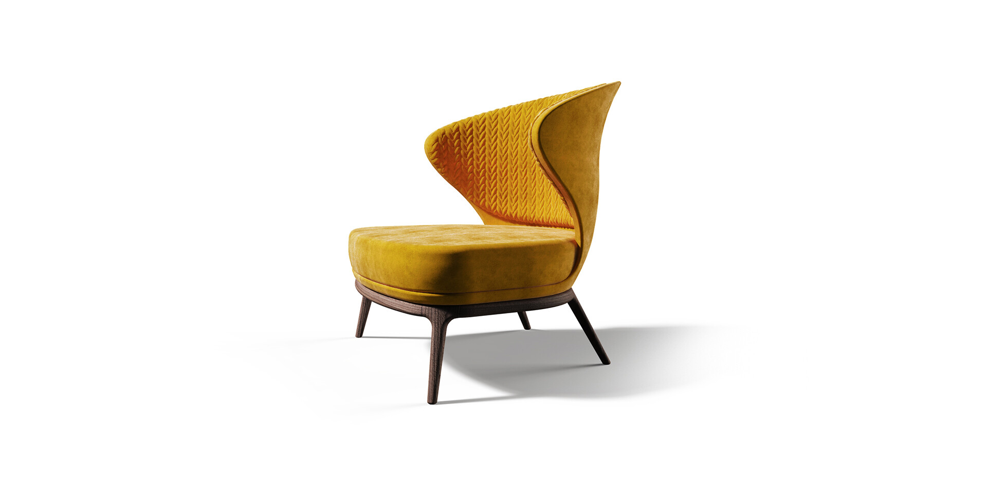 MOUSGOUM ARMCHAIR side view ALMA DE LUCE