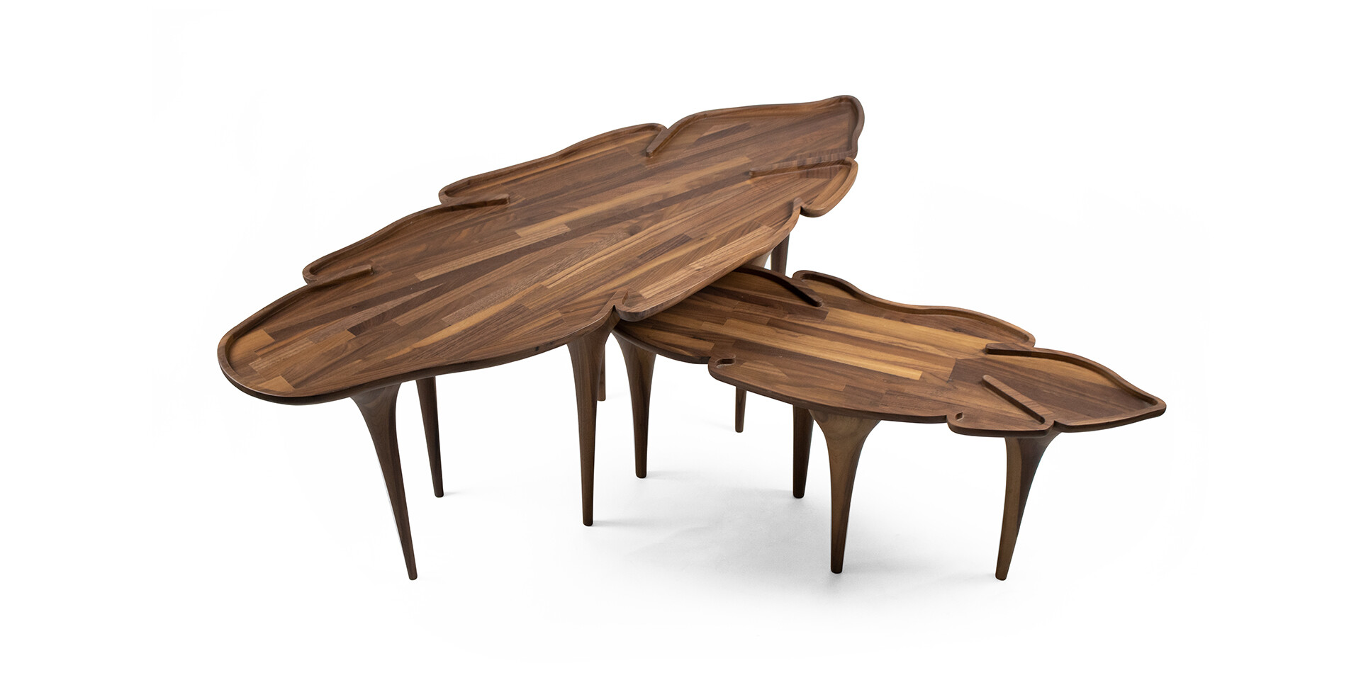 KOROWAI COFFEE TABLE detail other top side view ALMA de LUCE
