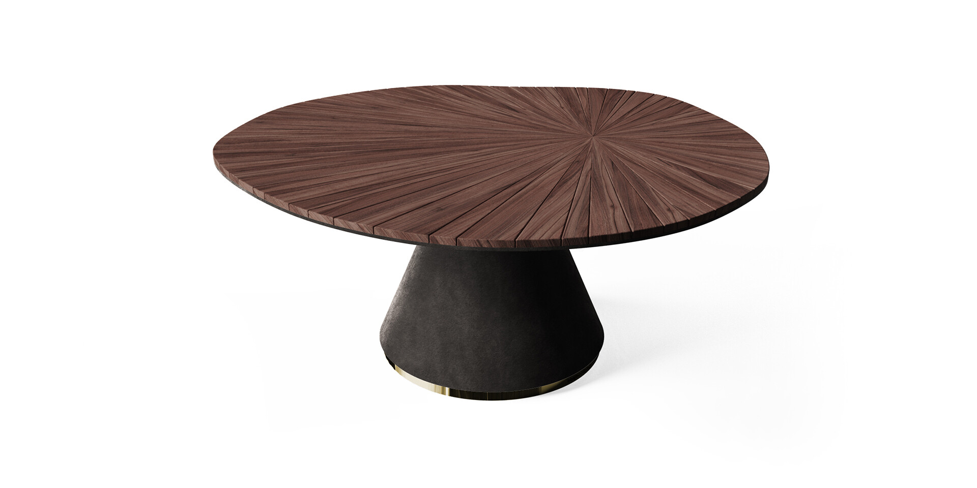 DARVAZA DINING TABLE side view ALMA de LUCE