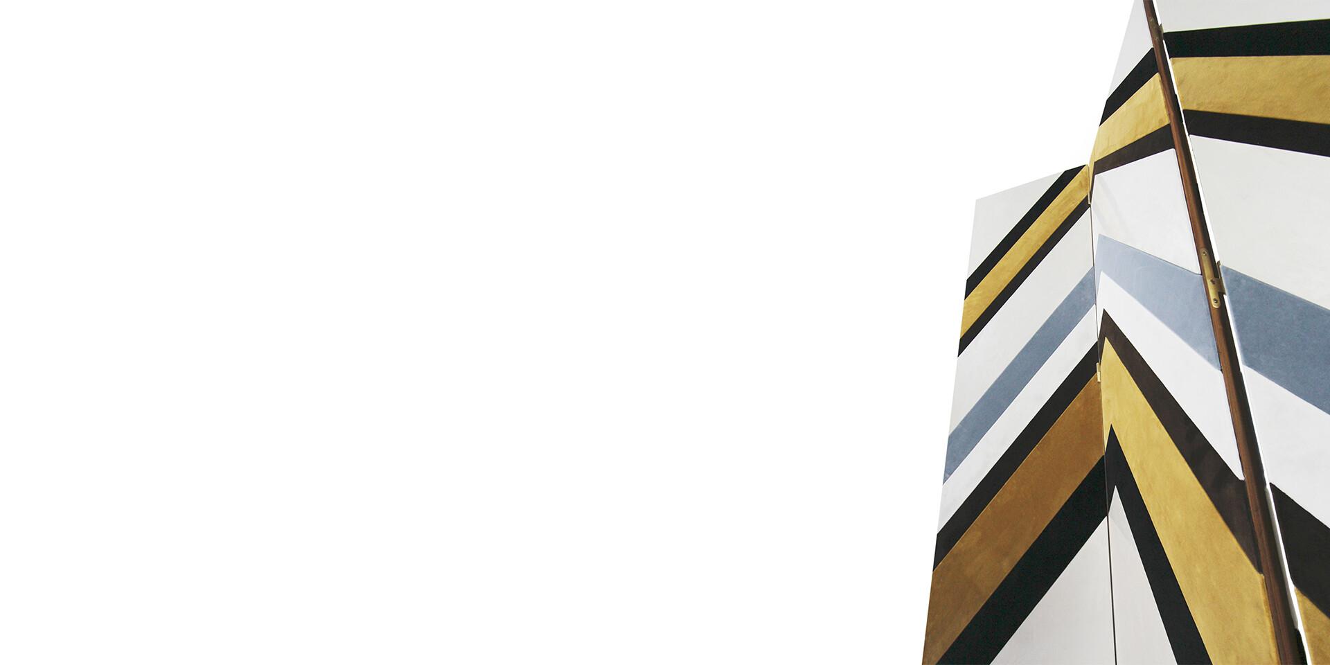 SONINKE FOLDING SCREEN detail top stucco view ALMA de LUCE