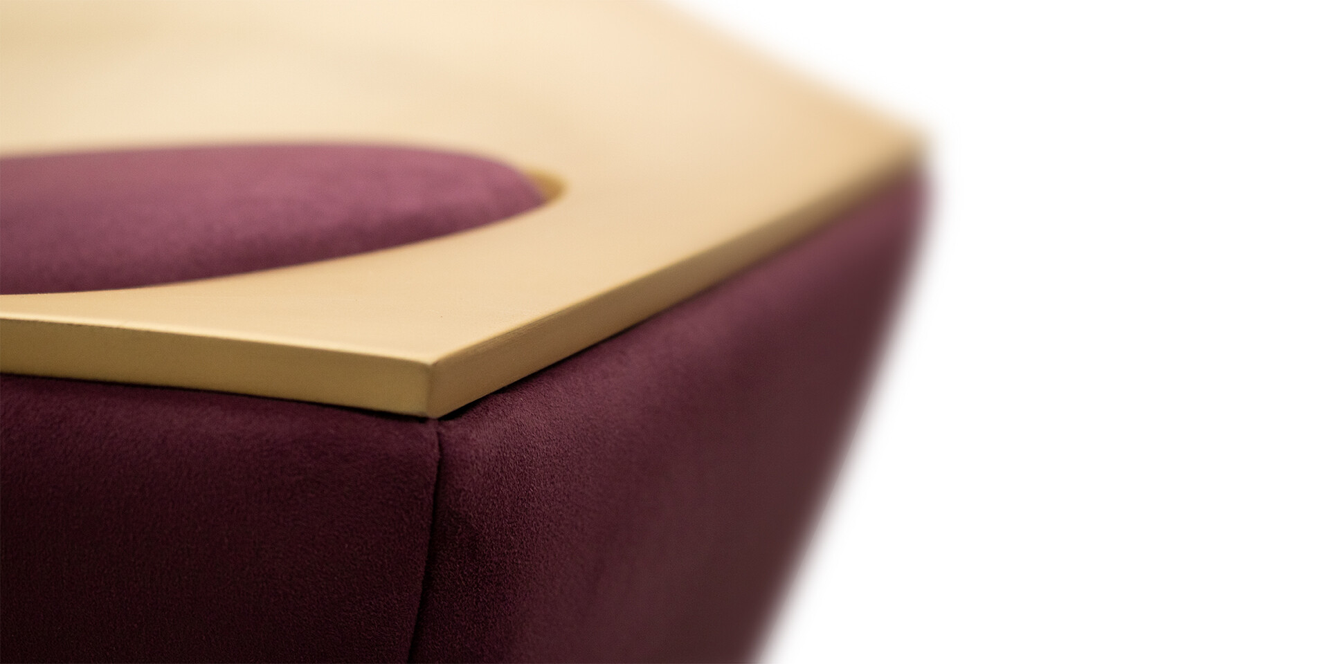 MCCOOL SIDE TABLE - Detail Top Side View - ALMA de LUCE