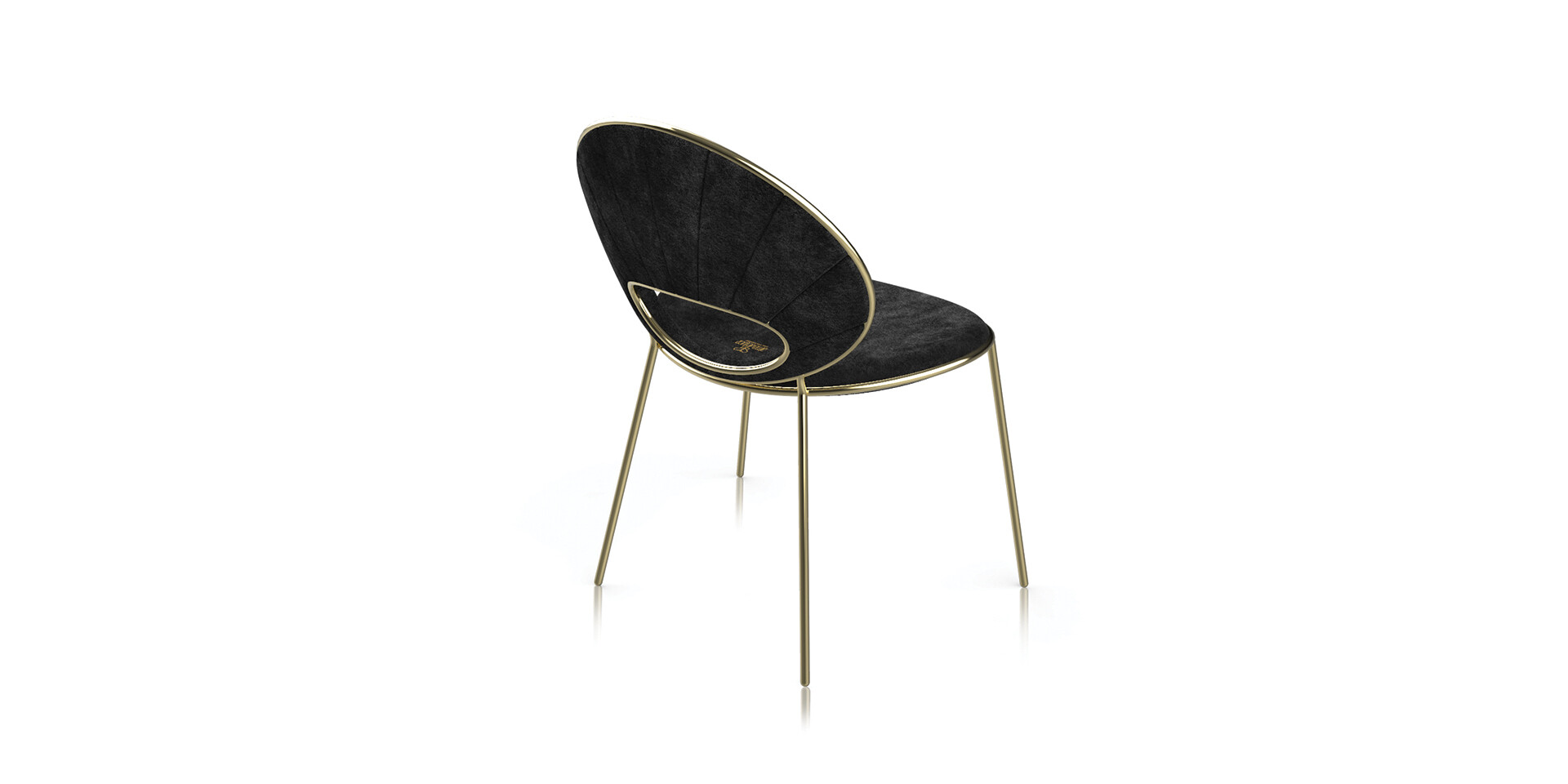 BLACK PEARl Armchair Side BackView ALMA de LUCE