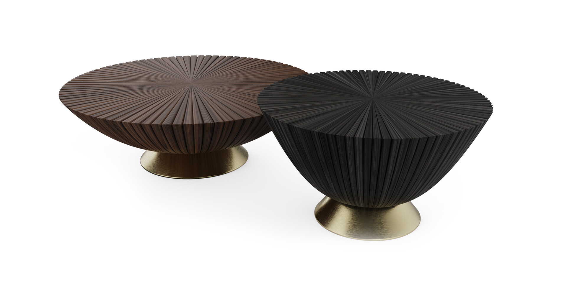 GOATHI COFFEE TABLE - Front Top View - ALMA de LUCE
