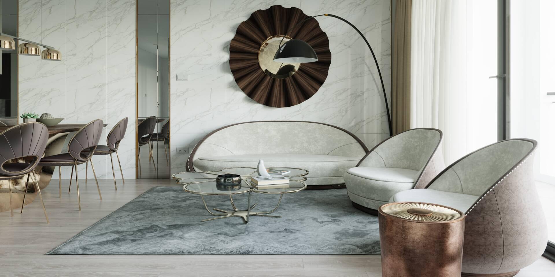 Luxury Tulip Sofa - ALMA DE LUCE