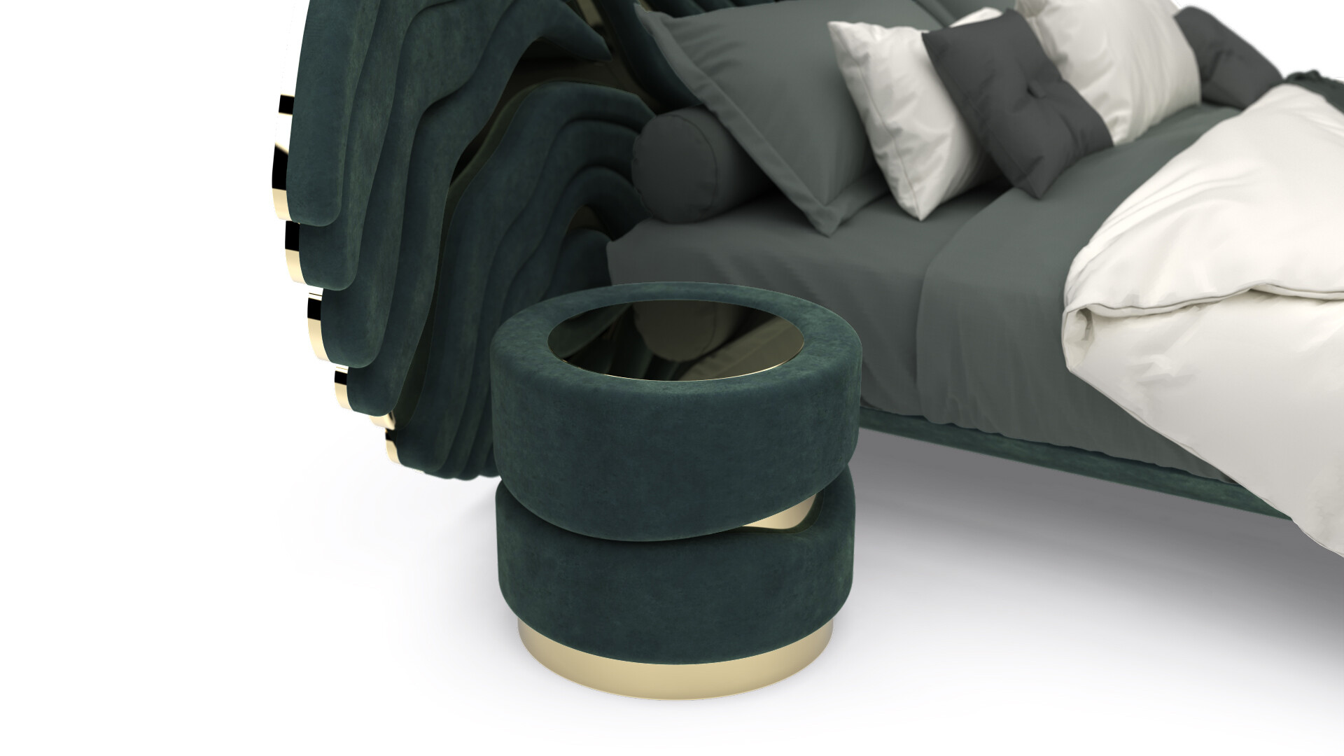 DOURO BED set - Bed Stand 1 Detail View - ALMA de LUCE