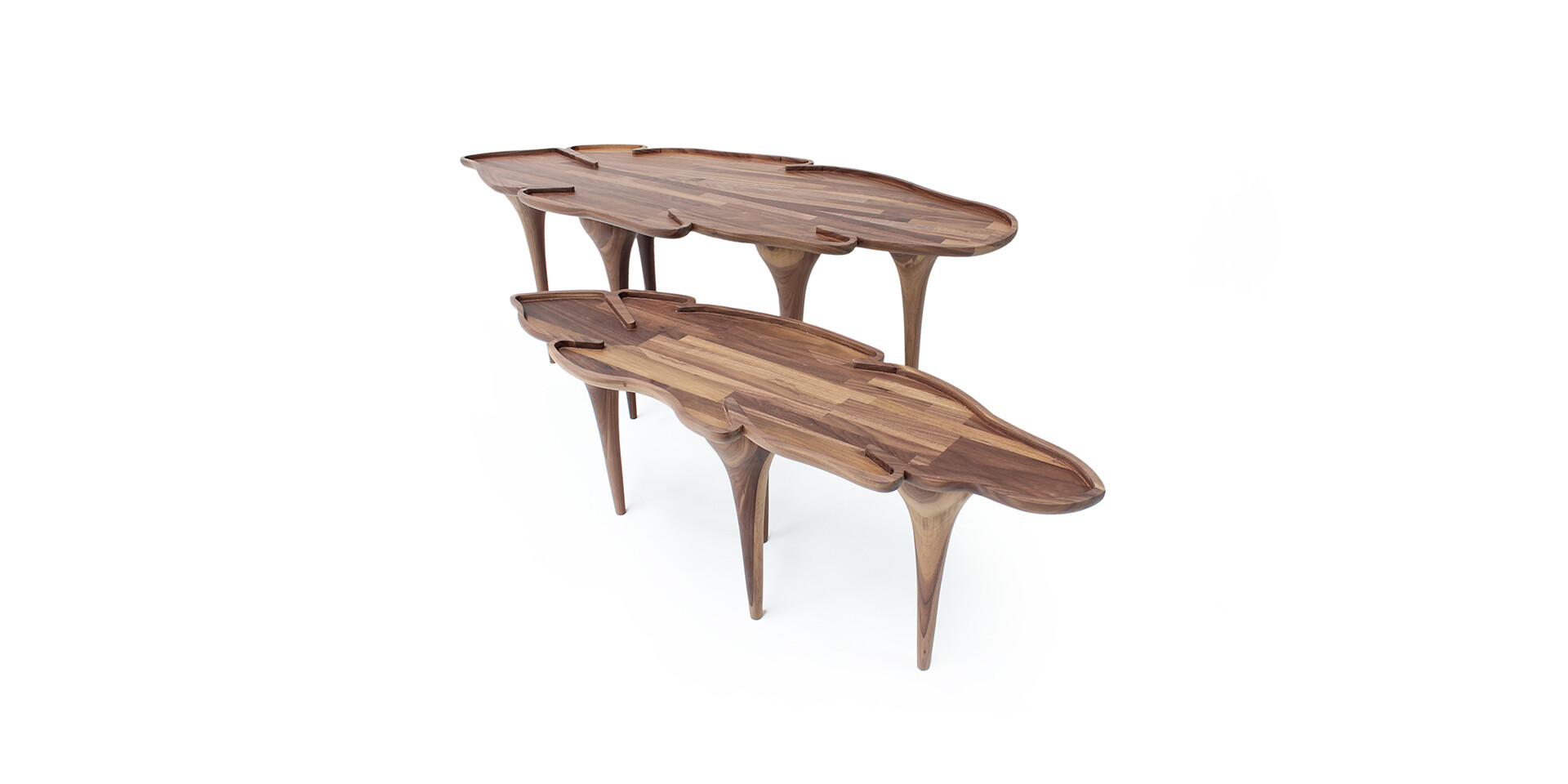 KOROWAI COFFEE TABLE top side view ALMA de LUCE