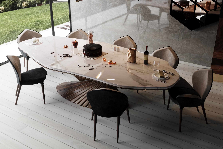 AMBIENTE 7 - BONSAI DINING TABLE DETAIL VIEW - ALMA de LUCE