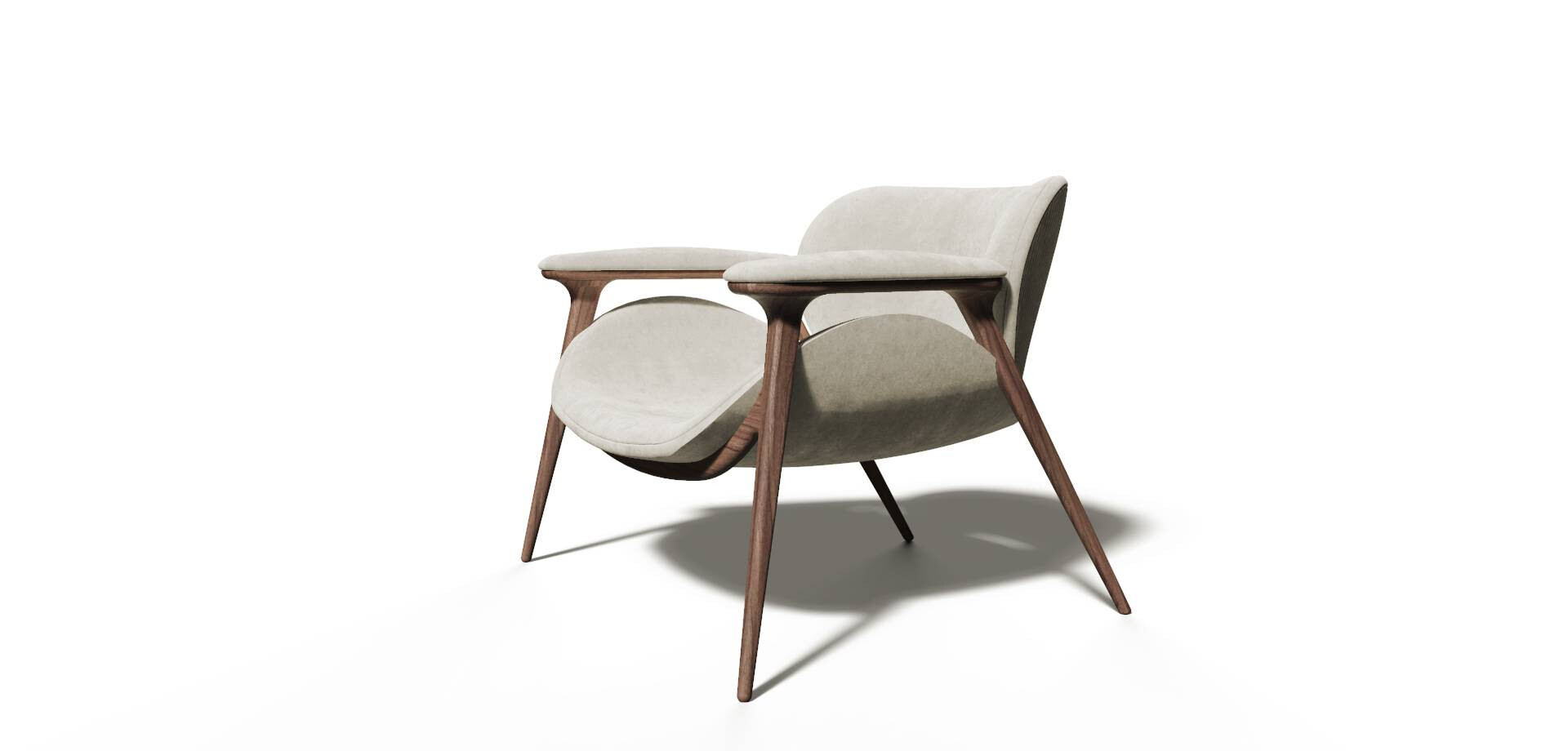 KHEPRI ARMCHAIR Side View ALMA de LUCE
