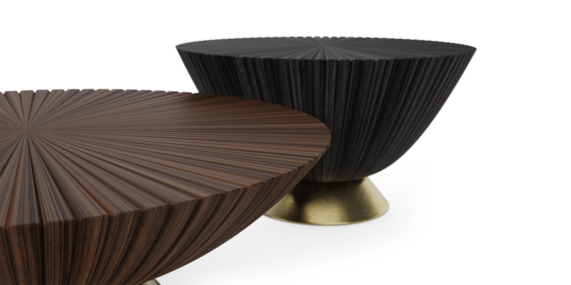 GOATHI COFFEE TABLE - Detail Side View - ALMA de LUCE