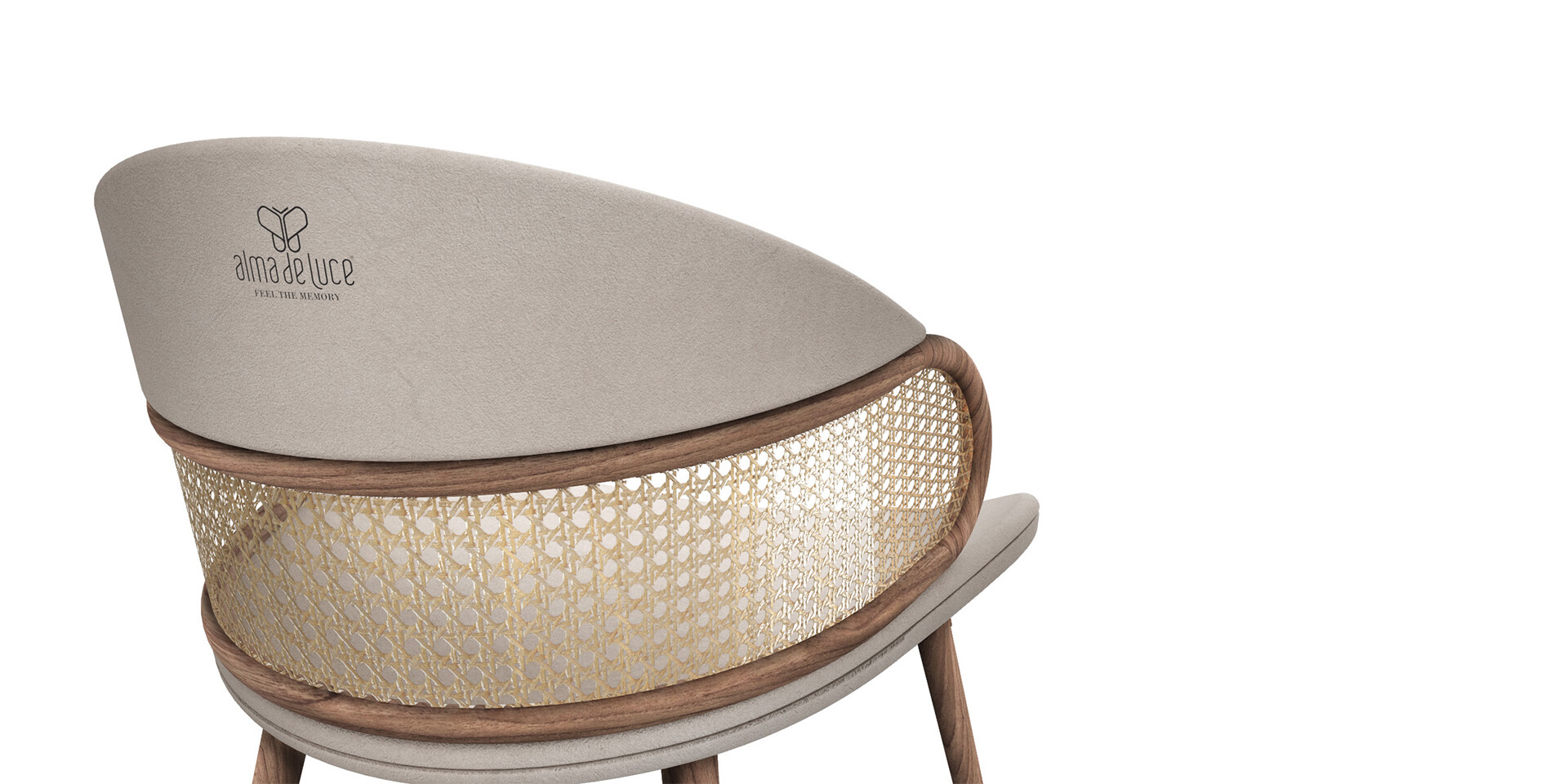 MUDHIF DININD CHAIR back side view ALMA de LUCE