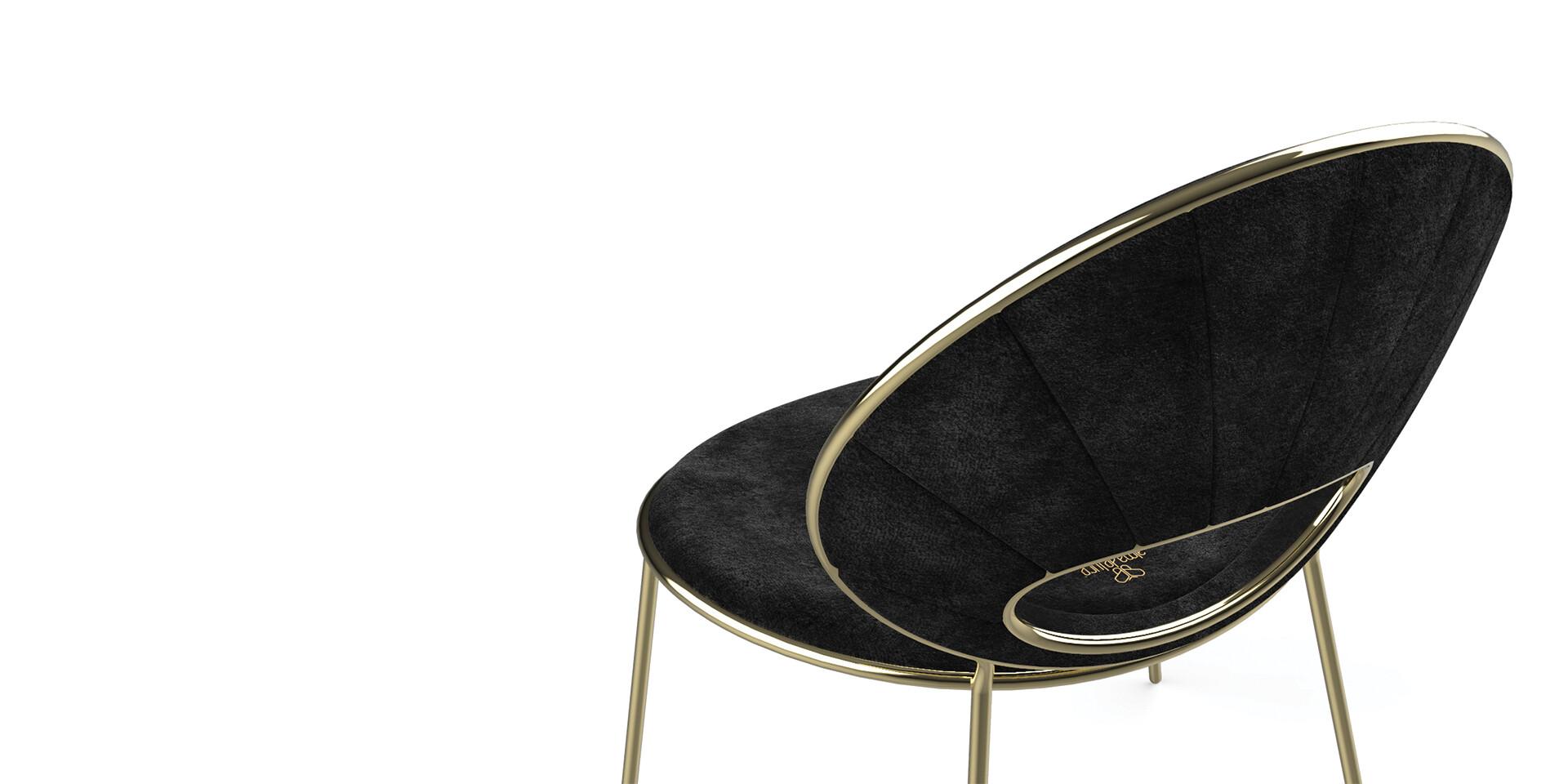 BLACK PEARl Armchair Detail TopView ALMA de LUCE