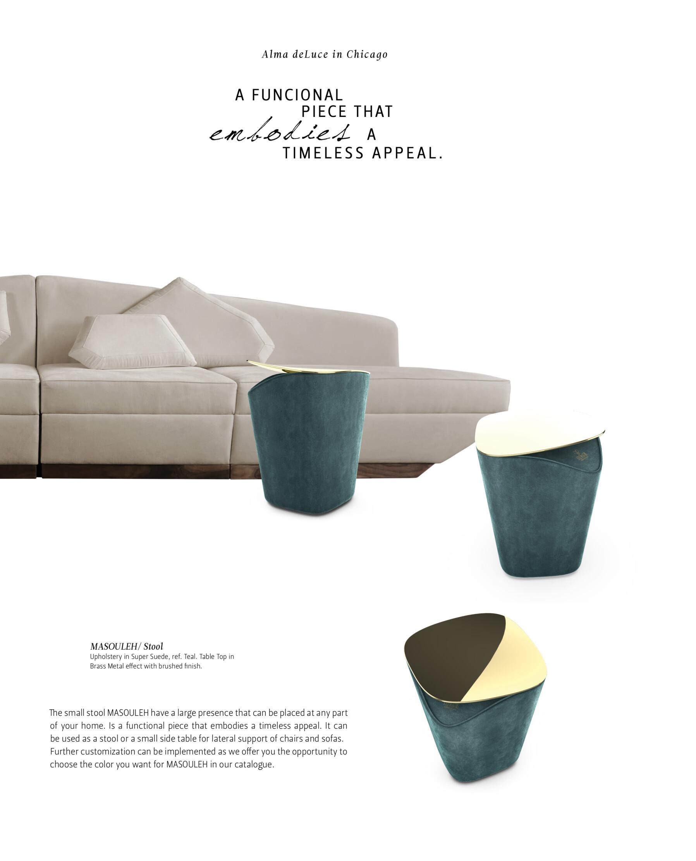 Ghadames sofa and Masouleh stool_ALMA DE LUCE