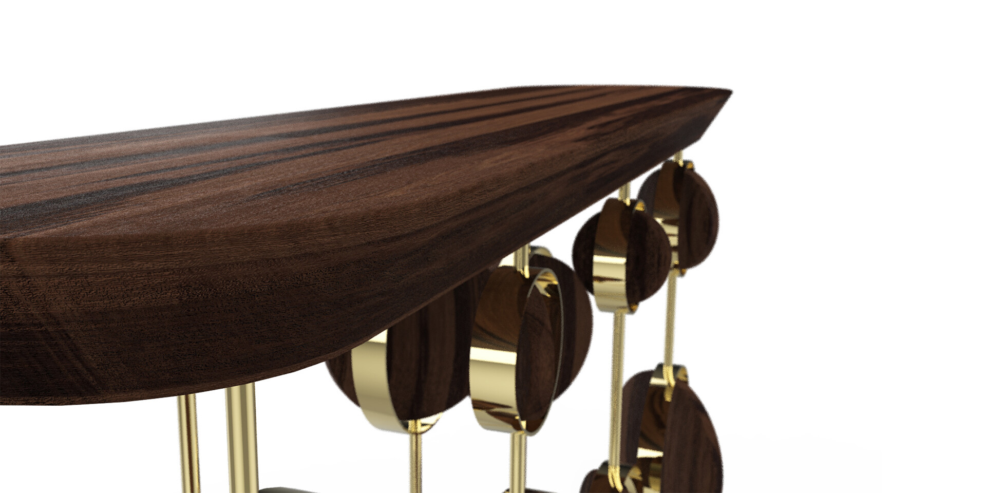 FAIRY CIRCLE CONSOLE detail top side view ALMA de LUCE