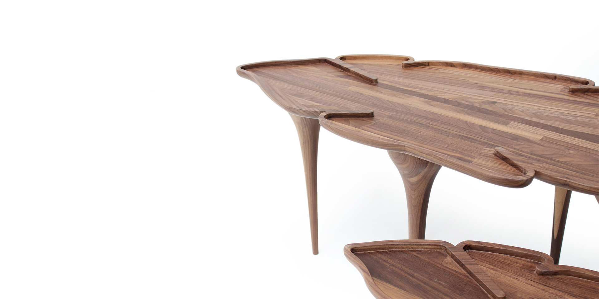 KOROWAI COFFEE TABLE detail top side view ALMA de LUCE
